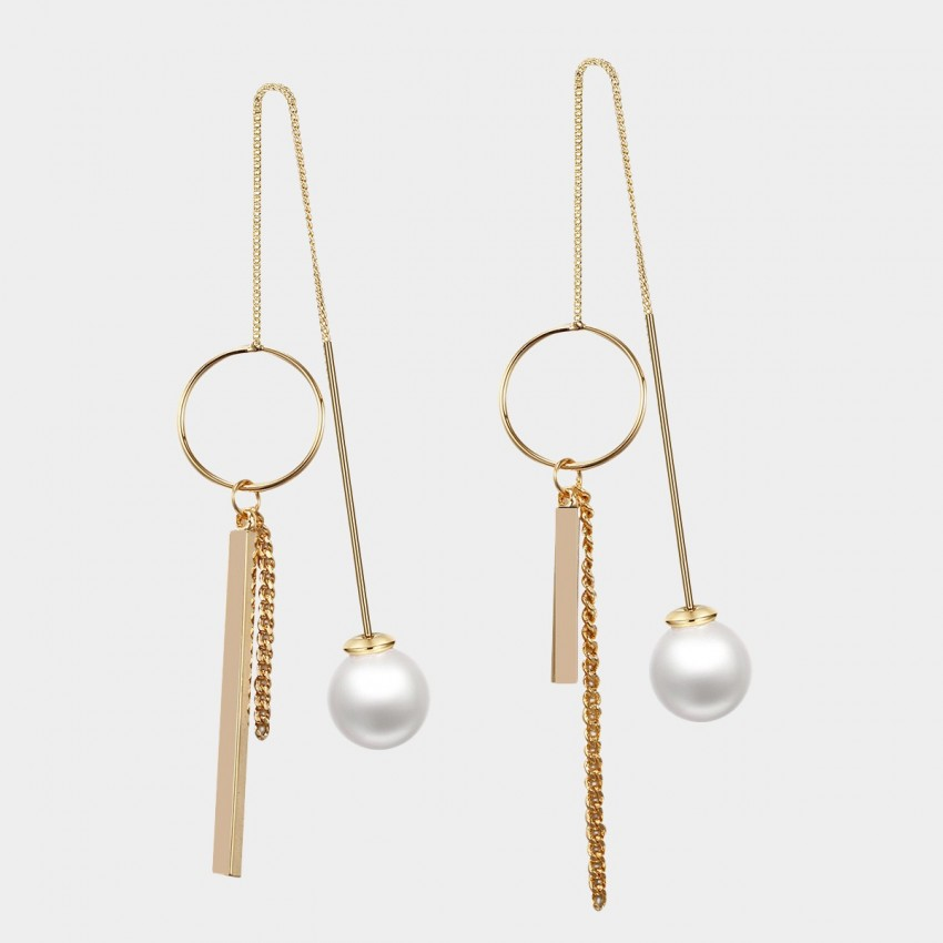 Caromay Uneven Shooting Stars Champagne Gold Earrings (E1416)