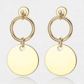 Caromay Round Keeper Champagne Gold Earrings (E1471)
