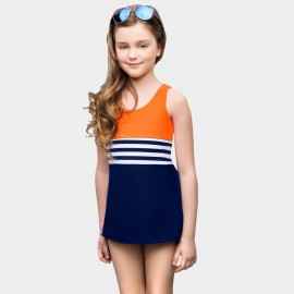 Balneaire Mid Stripe Breezy Orange One Piece (260028)