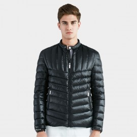Beverry Two Way Quilted Black Down Jacket (16AFQ031)