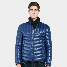 Beverry Two Way Quilted Blue Down Jacket (16AFQ031)