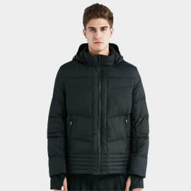 Beverry Multi Quilted Pattern Black Down Jacket (16AFQ067)