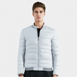 Beverry Varied Quilted Block Grey Down Jacket (16AFQ044)