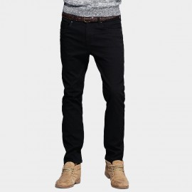 Kuegou Simple Five Pocket Black Jeans (KK-2376)