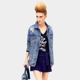 Cocobella Lady Fit Denim Blue Jacket (CT518)