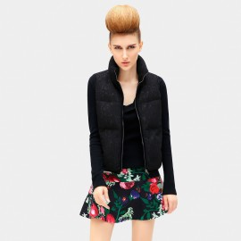 Cocobella Embroidered Leaf Black Jacket (CT550)