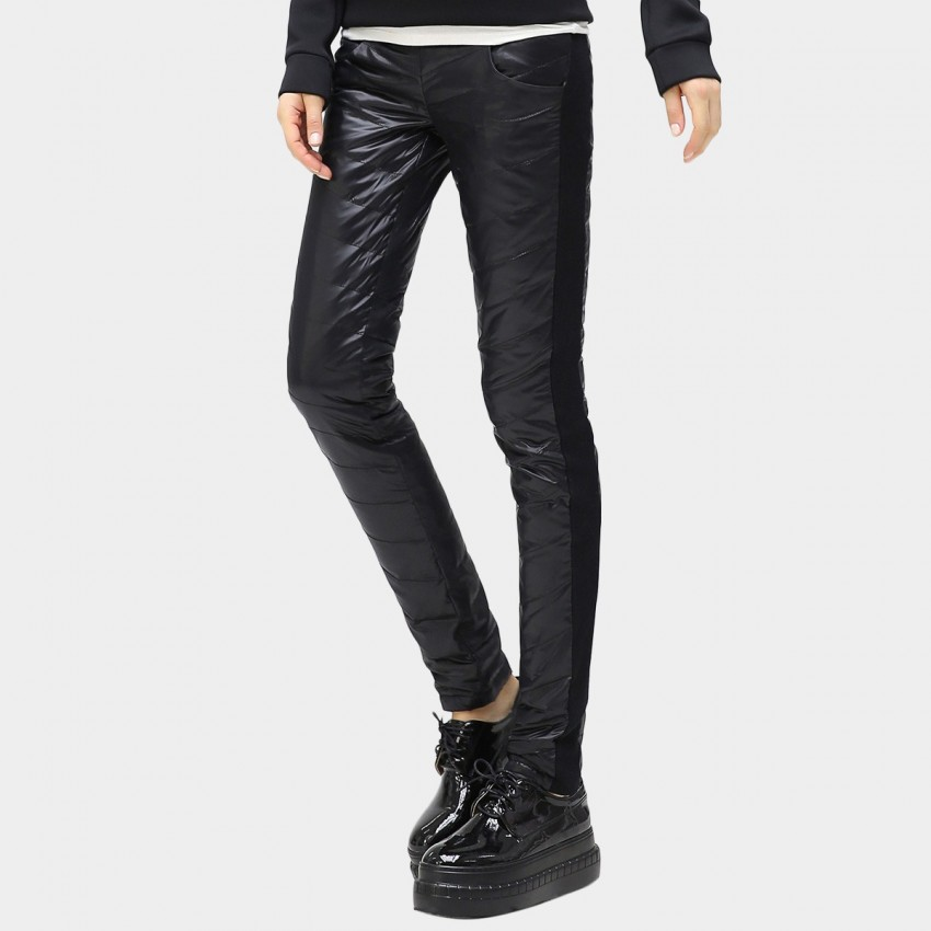 bd91b3530c59f8 ... Cocobella Skinny Fit Quilted Black Pants (PT260) ...