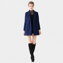 SSXR Single Button Down Pocket Blue Coat (4099)