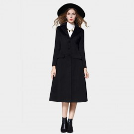 SSXR Minimalistic Knee Length Pocket Over Black Coat (4334)