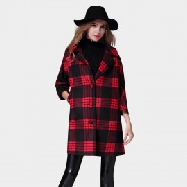 SSXR Matrix Alert Thigh Length 7 Inch Sleeved Red Coat (4340)