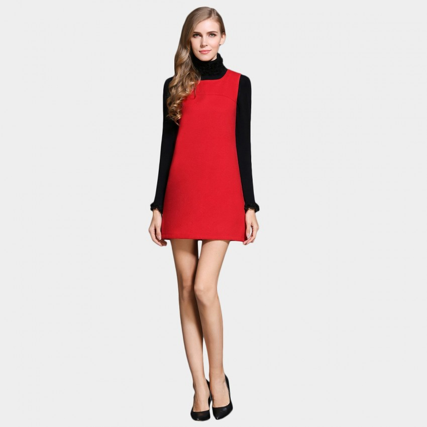 Buy SSXR Square Neck Vest Red Dress online, shop SSXR with free shipping