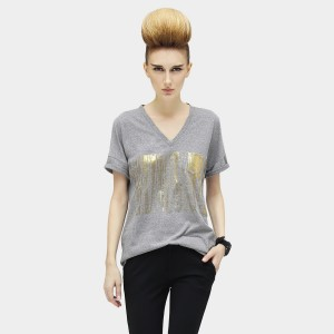Cocobella Falling Shower Grey Tee (TE407)
