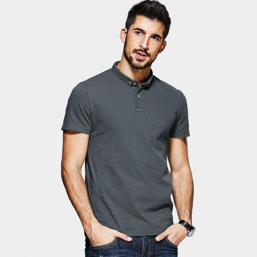 KUEGOU Easy Take Charcoal POLO Shirt (RT-9534)
