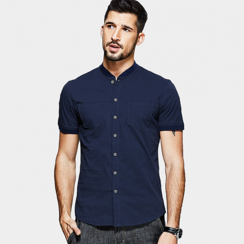 KUEGOU Wise Mock Navy Shirt (UC-0812)
