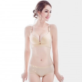 Olanfen Full Support Checkers Gradient Nude Set (T6002)