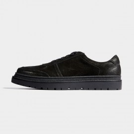 Herilios Random Curls Leather Black Sneakers (H7105D77)