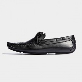 Herilios Light Sole Brogue Butterfly Knots Black Lace-Up (H7105D78)