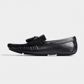 Herilios Tassel Light Sole Black Loafers (H7105D79)