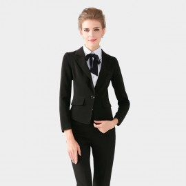 SSXR Single Oversized Button Black Blazer (4104)