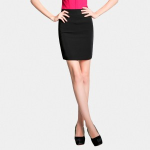 SSXR Zip Back Mini Pencil Black Skirt (5231)