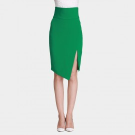 SSXR Trimmed Waist Irregular Green Skirt (5242)