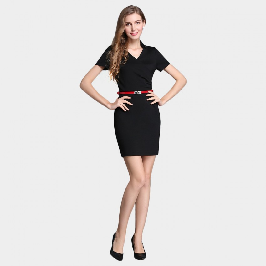 Buy SSXR Wrap Chest One Piece Black Dress online, shop SSXR with free shipping