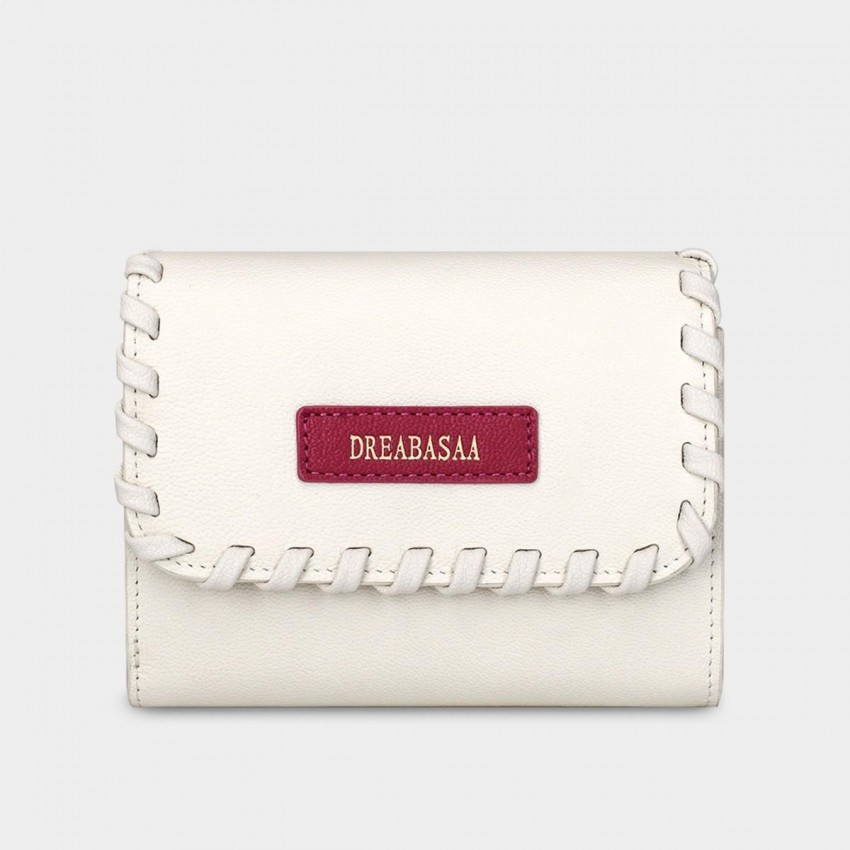 Dreabassa Delicate Crafted Style White Wallet (DR97)