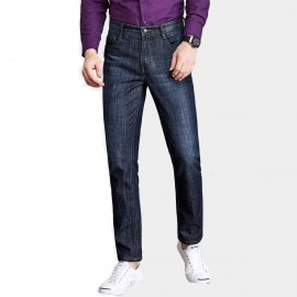 Qzhihe Regular Fit Navy Jeans (HMN7736)