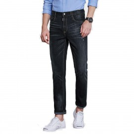 Qzhihe Washed Denim Navy Jeans (HMN9909)