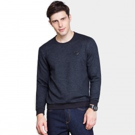 Qzhihe Casual Badge Navy Sweater (HMW3279)