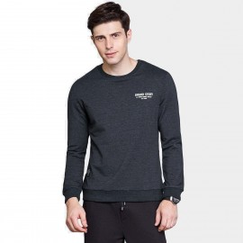 Qzhihe Round Neck Brand Story Charcoal Sweater (HMW3285)