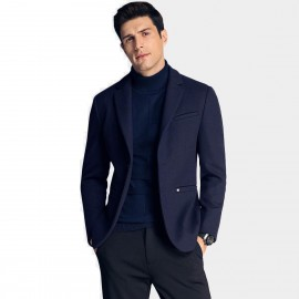 Qzhihe Two Button Navy Blazer (HMX3267)