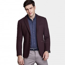 Qzhihe Two Button Wine Blazer (HMX3267)