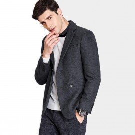 Qzhihe Two Button Charcoal Blazer (HMX3267)