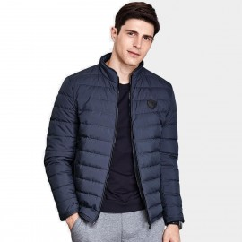 Qzhihe Puffy Zipper Navy Down Jacket (HMY3265)