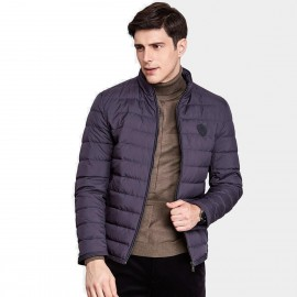 Qzhihe Puffy Zipper Purple Down Jacket (HMY3265)