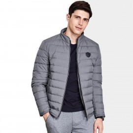 Qzhihe Puffy Zipper Grey Down Jacket (HMY3265)