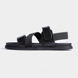 Herilios Stretchy And Magic Stap Black Sandals (H7105L19)