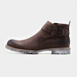 Herilios Buckle Decorated Brown Boots (H7305G12)