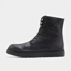 Herilios Plain Toe High Black Boots (H7305G14)