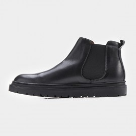 Herilios Flat Traditional Chelsea Black Boots (H7305G15)