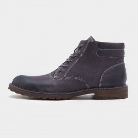 Herilios Plain Toe With Stitching Working Style Grey Boots (H7305G08)
