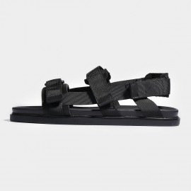 Herilios Strapy Black Sandals (H7105L04)