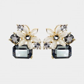 Caromay Cold Flower Champagne Gold Earrings (E2245)