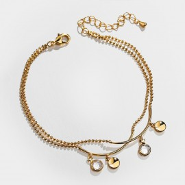 SEVENTY 6 Repeat Moves Gold Anklet (3809)