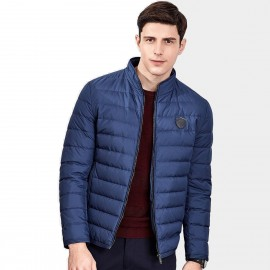 Qzhihe Puffy Zipper Blue Down Jacket (HMY3265)