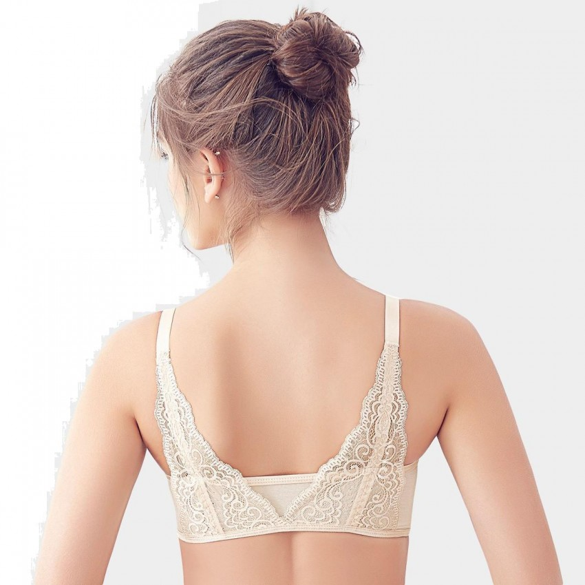 caa621f610c1c Olanfen T Shirt Seamless Invisible Double Hook Front Closure Nude Bra  (W6106) ...