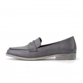 Superelephant Pointed Head Grey Loafers (3226)