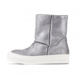 Superelephant Shiny Silver Boots (1070-2068)