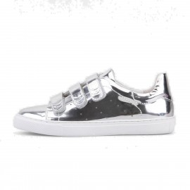 Superelephant Glassy Silver Sneakers (728-28)